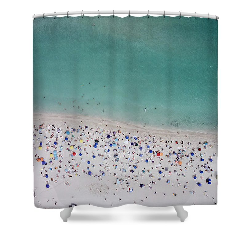 Water's Edge Shower Curtain featuring the photograph Haulover, Miami by Copyright Www.floridaphoto.com 305.235.7051