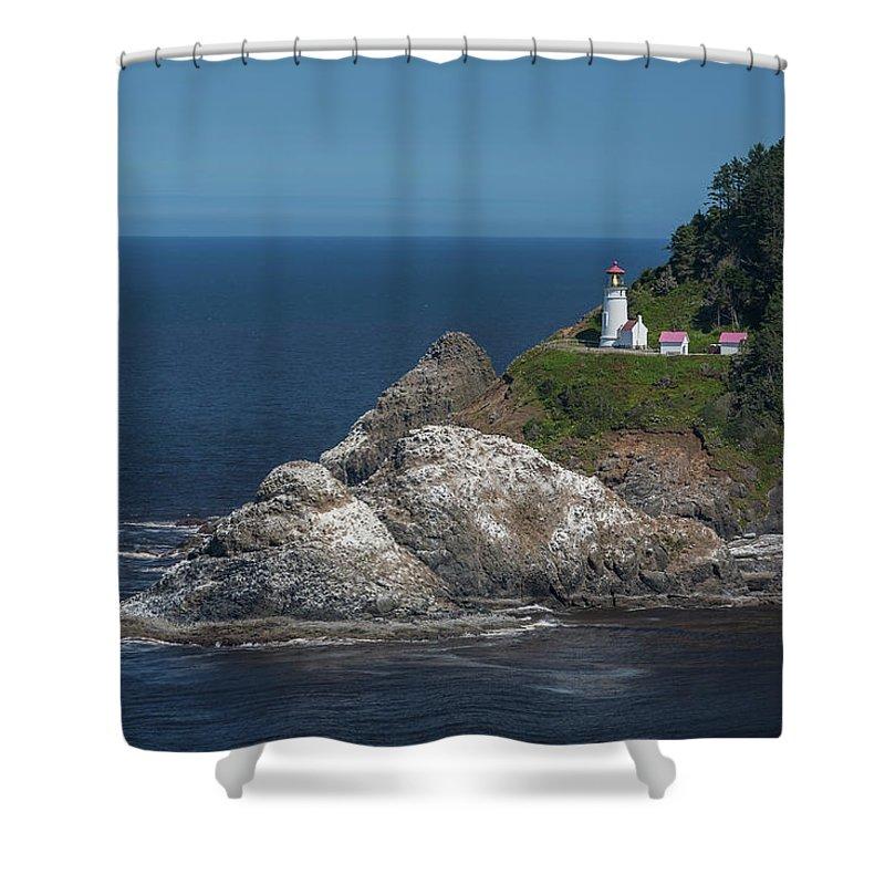 Scenics Shower Curtain featuring the photograph Heceta Head Lighthouse, Oregon Coast by Jeff Hunter