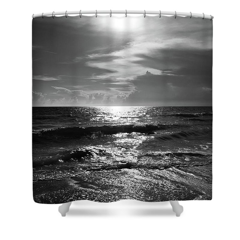 Water's Edge Shower Curtain featuring the photograph Helios by Robert S. Donovan