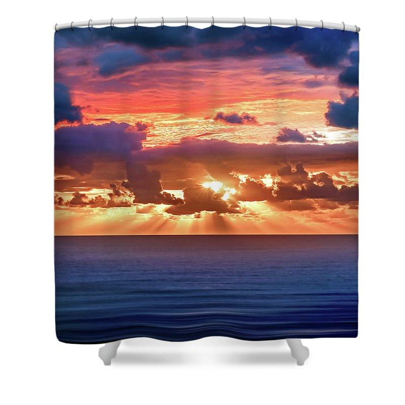Abstract Shower Curtain featuring the photograph Hidden Spark by Az Jackson