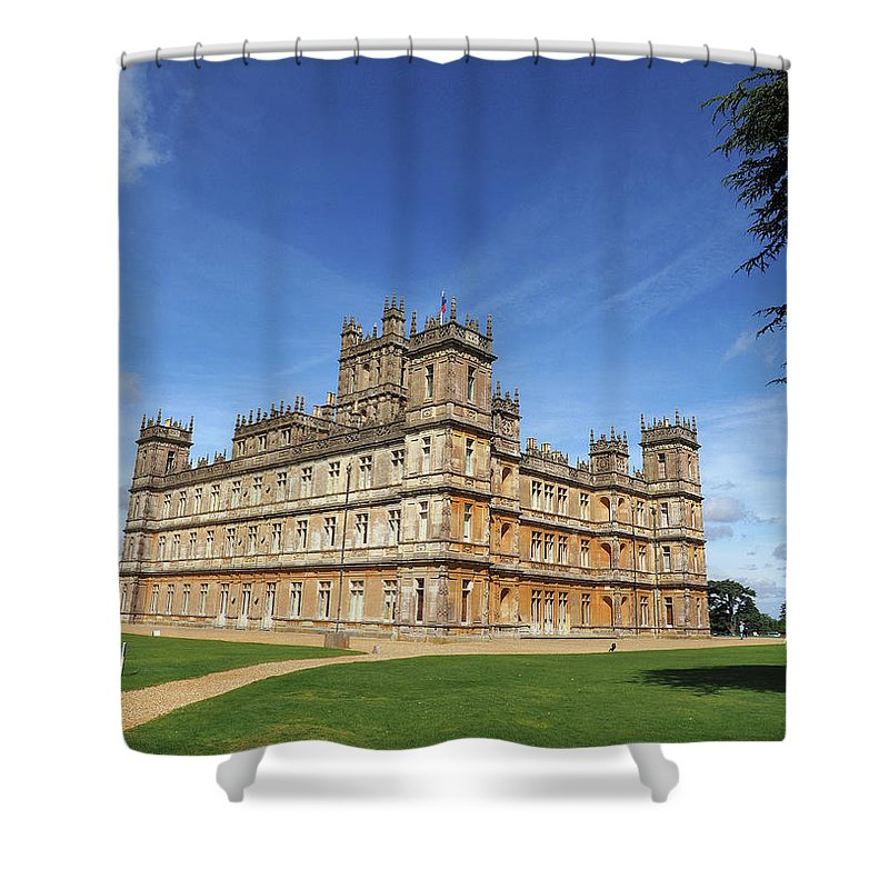 Highclere Castle Shower Curtain featuring the photograph Highclere Castle Aka Downton Abbey by Joe Schofield