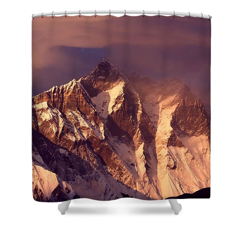 Scenics Shower Curtain featuring the photograph Himalayas At Sunset by Pal Teravagimov Photography