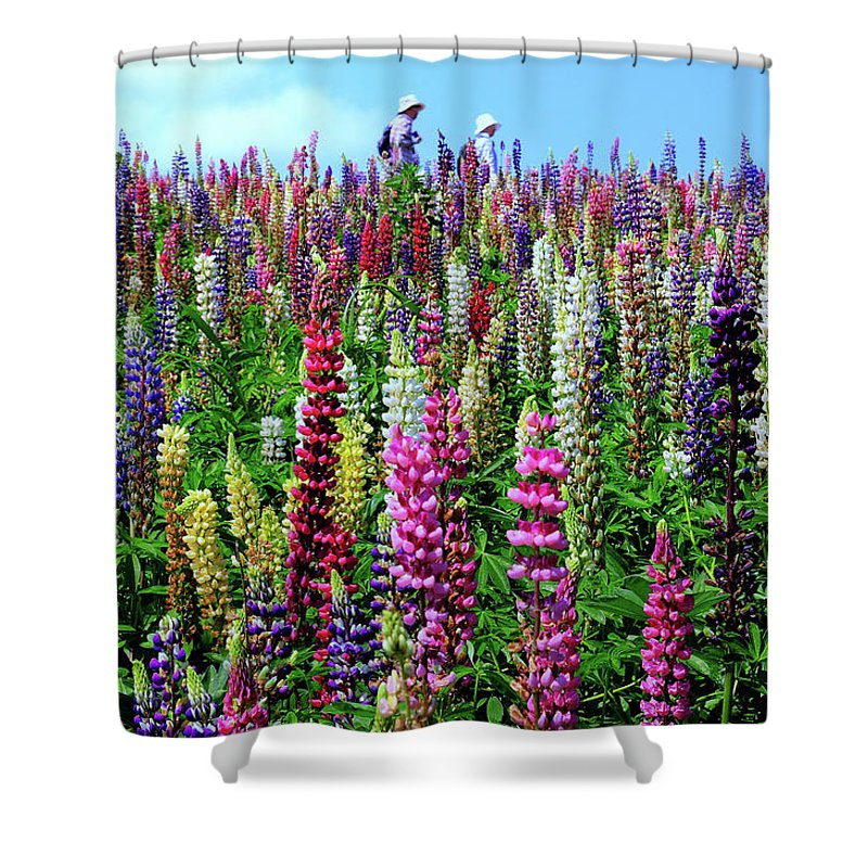 Scenics Shower Curtain featuring the photograph Hokkaido by Frank Chen
