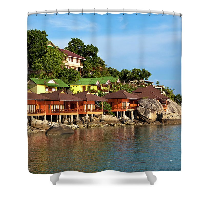 Vacations Shower Curtain featuring the photograph Holiday Villas by 35007