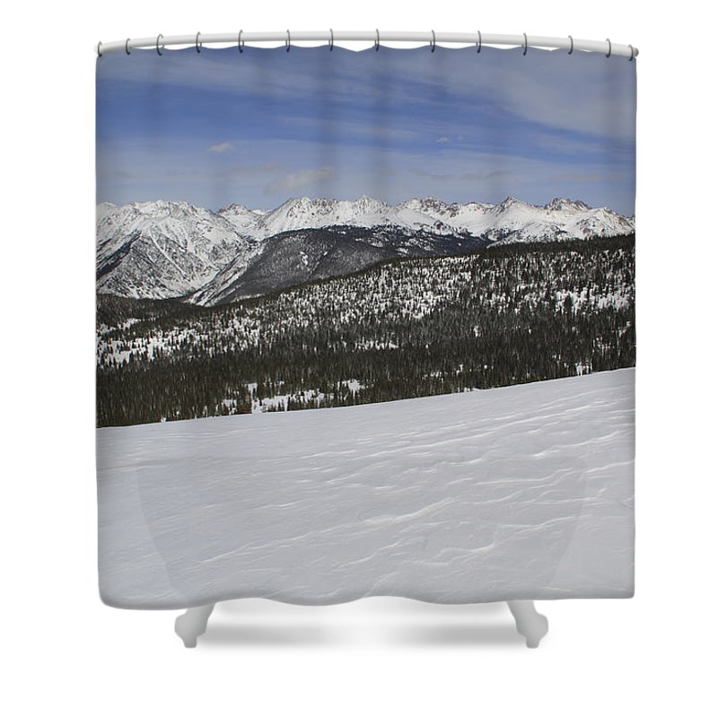 Scenics Shower Curtain featuring the photograph Holy Cross Wilderness Area In Winter by John Kieffer