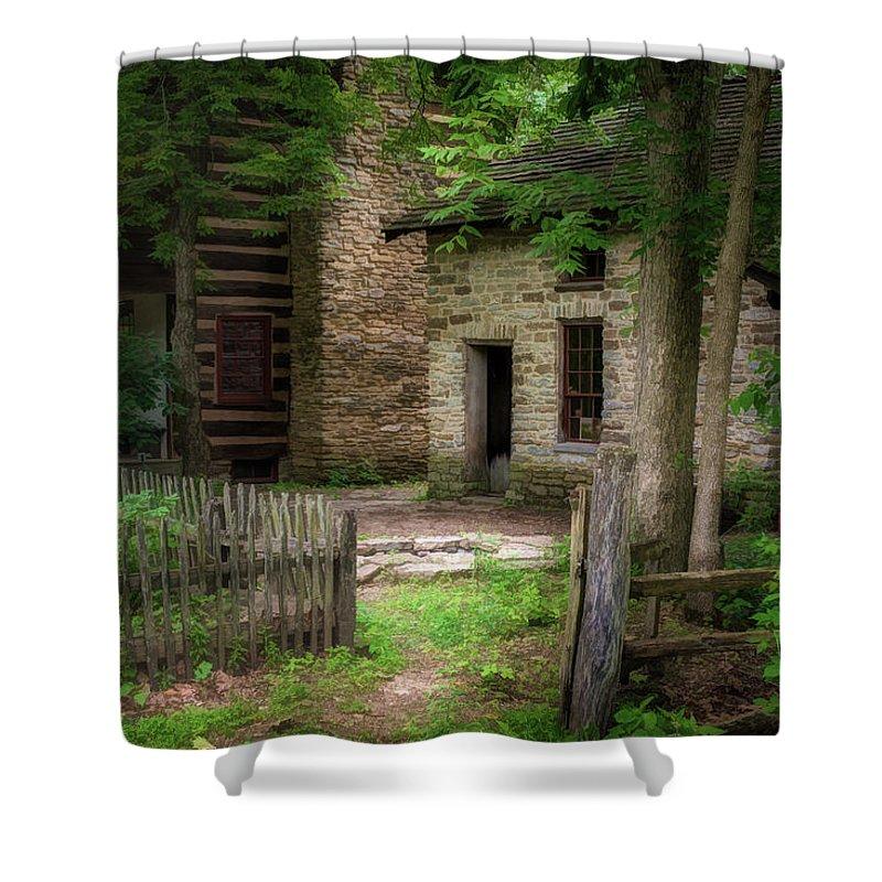 Homestead Shower Curtain featuring the photograph Homestead by Tom Mc Nemar