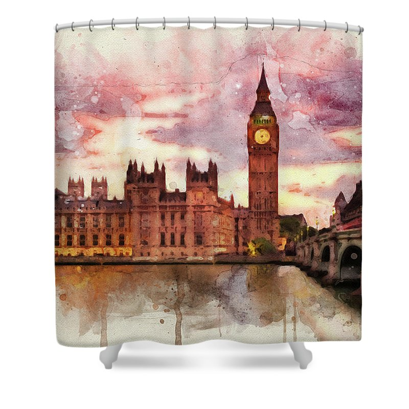 Parliament Mixed Media Shower Curtains