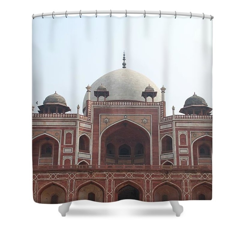 Arch Shower Curtain featuring the photograph Humayuns Tomb, Delhi by Brajeshwar.me
