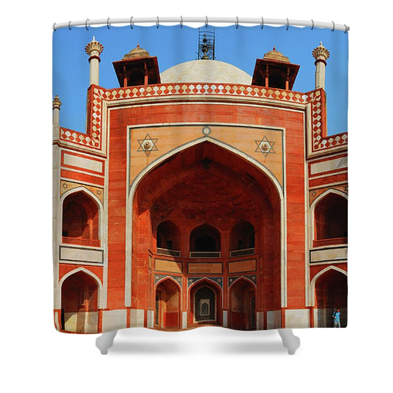 Arch Shower Curtain featuring the photograph Humayuns Tomb, New Delhi by Mukul Banerjee Photography