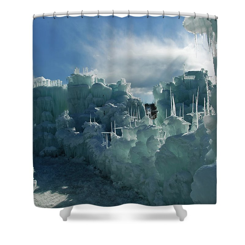 Iceberg Shower Curtain featuring the photograph Ice Castle by Robin Wilson Photography