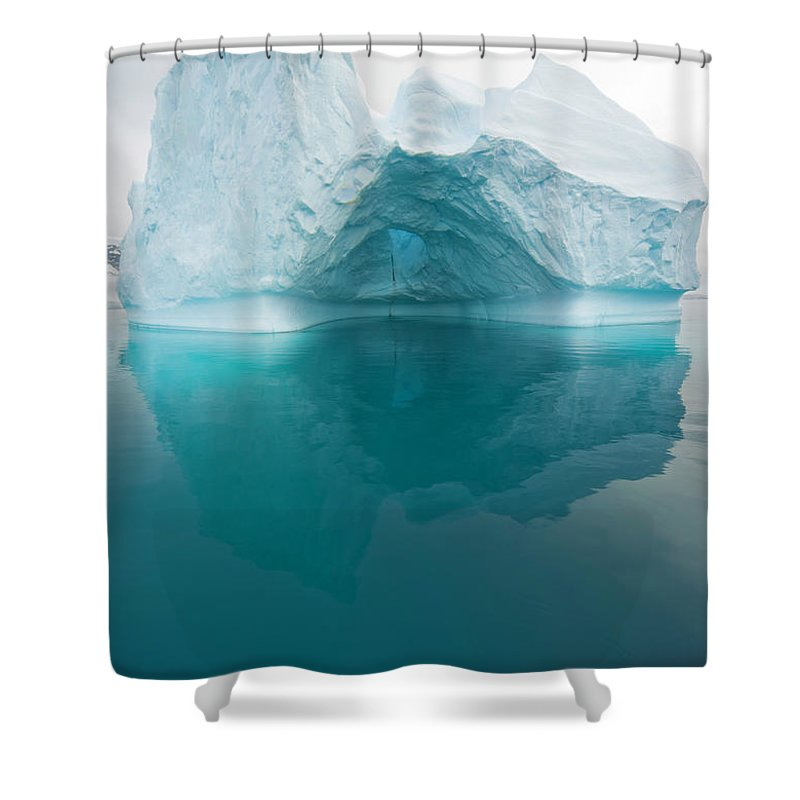 Iceberg Shower Curtain featuring the photograph Iceberg And Reflections, Antarctic by Eastcott Momatiuk