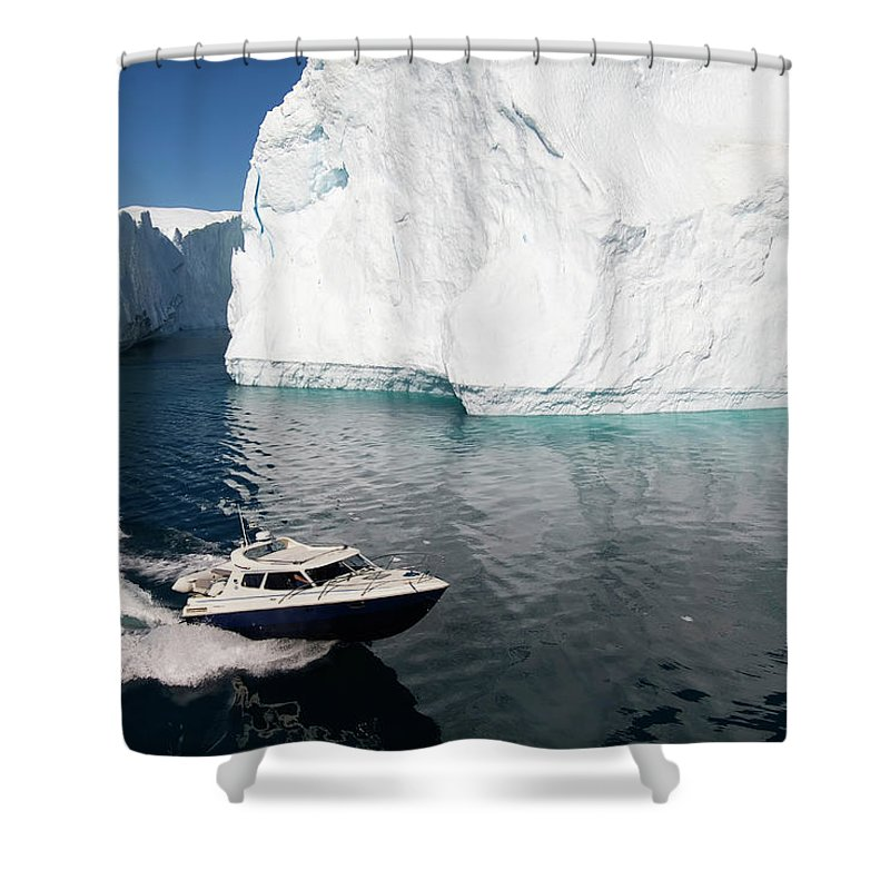 Scenics Shower Curtain featuring the photograph Ilulissat, Disko Bay by Gabrielle Therin-weise