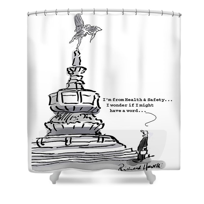 Picadilly Circus Shower Curtains