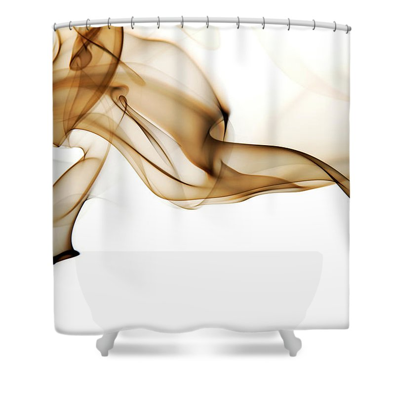 Art Shower Curtain featuring the photograph Image Of High Contrast Smoke Up Against by Guarosh