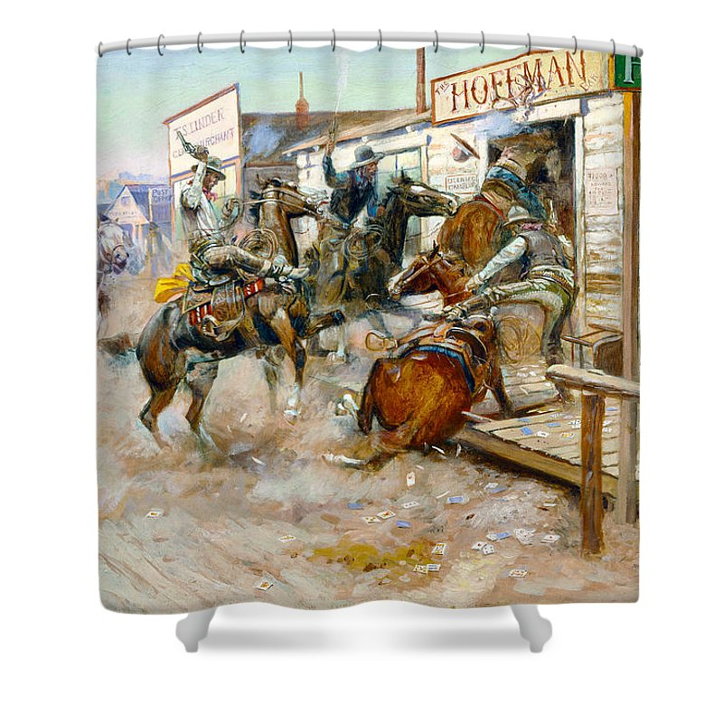 Charles Russell Shower Curtain featuring the photograph In Without Knocking by Charles Russell