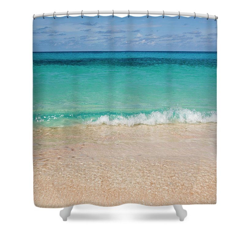Water's Edge Shower Curtain featuring the photograph Indonesia, Waves Rolling In From Indian by Joe Mcbride