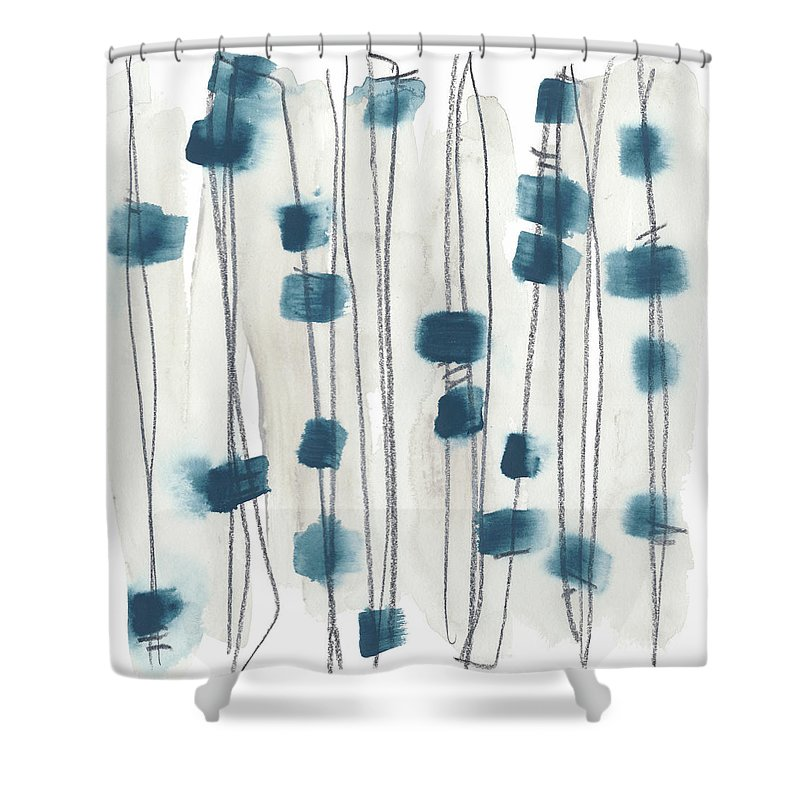 Abstract Shower Curtain featuring the painting Insho Viii by June Erica Vess