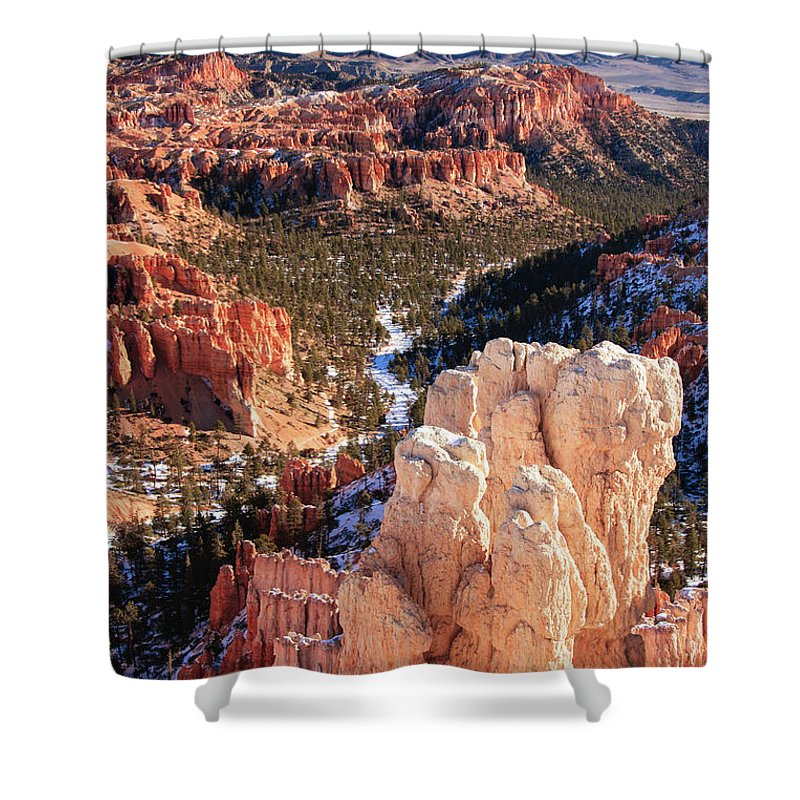 Tranquility Shower Curtain featuring the photograph Inspirational by Daniel Cummins