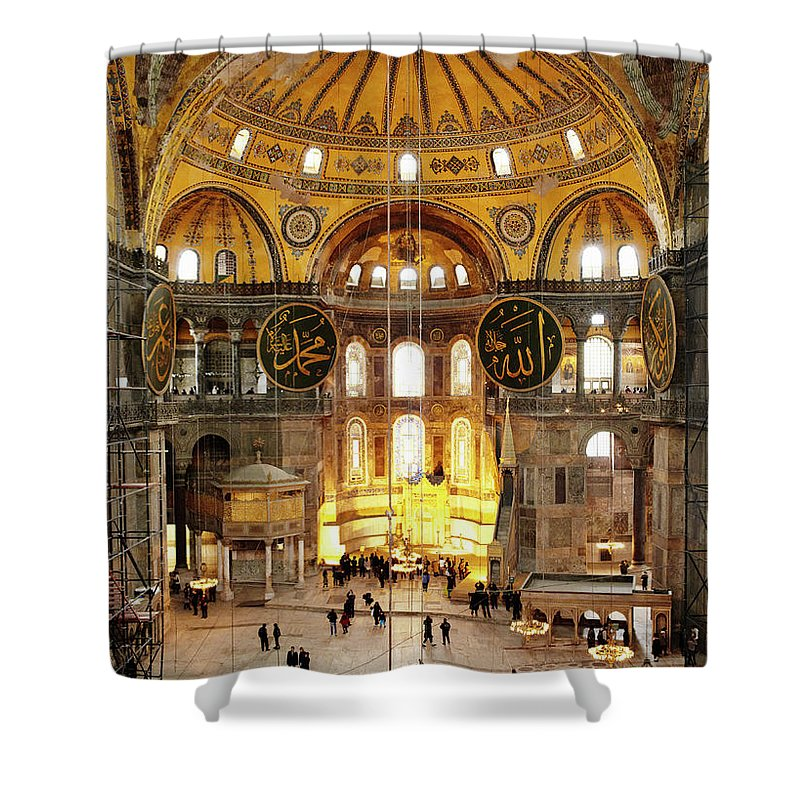 Arch Shower Curtain featuring the photograph Interior Of Hagia Sophia by Silvia Otte