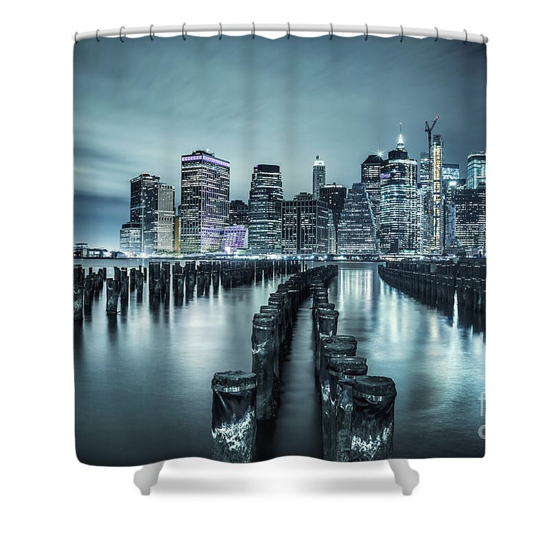Kremsdorf Shower Curtain featuring the photograph Into The Blue Night by Evelina Kremsdorf