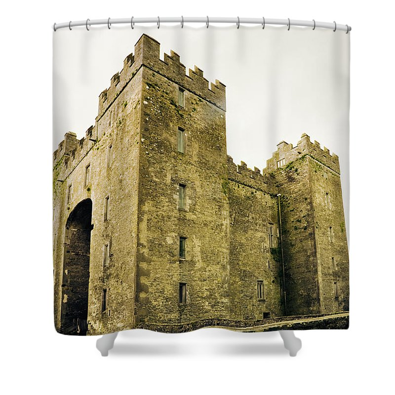 Bunratty Castle Shower Curtain featuring the photograph Ireland Bunratty Castle In County by Alantobey