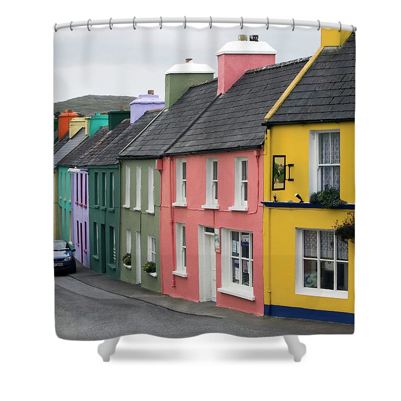 Row House Shower Curtain featuring the photograph Ireland, County Cork, Beara Peninsula by Glen Allison