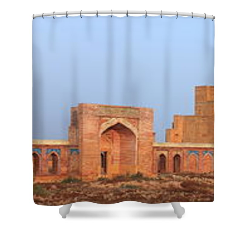 Tranquility Shower Curtain featuring the photograph Isa Khan Tombs Of Makli by Nadeem Khawar