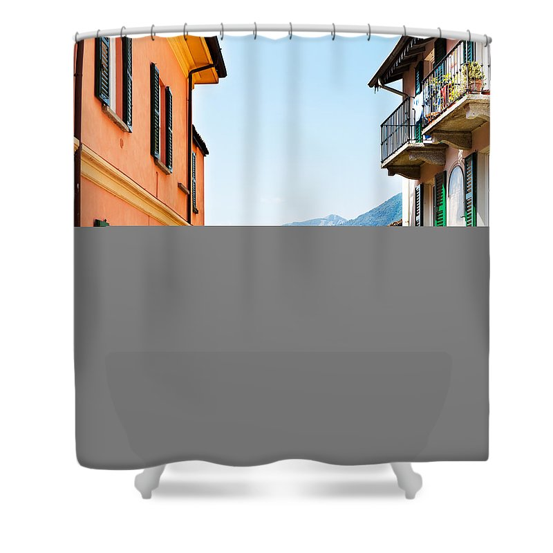Italian Culture Shower Curtain featuring the photograph Italian Village by Tomml