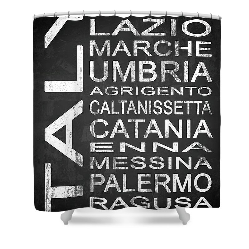 Italy Shower Curtain featuring the digital art Italy 2 by Melissa Smith