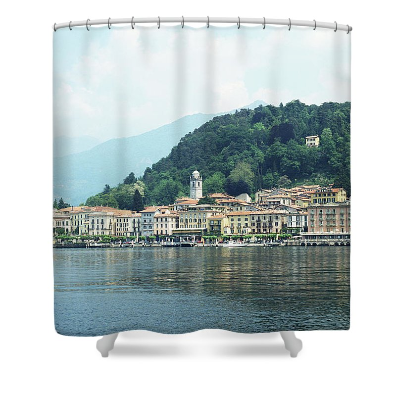 Outdoors Shower Curtain featuring the photograph Italy, Lombardy, Bellagio On Lake Como by Andy Sotiriou