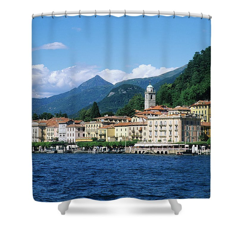 Scenics Shower Curtain featuring the photograph Italy, Lombardy, Bellagio by Vincenzo Lombardo