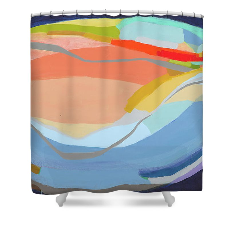 Abstract Shower Curtain featuring the painting It's A New Beginning by Claire Desjardins