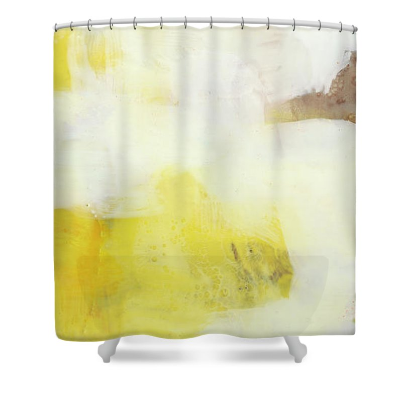 Abstract Shower Curtain featuring the painting Jammy II by Sue Jachimiec