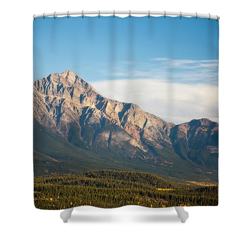 Scenics Shower Curtain featuring the photograph Jasper Valley by Abishome