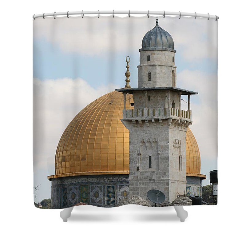 Arch Shower Curtain featuring the photograph Jerusalem by Yelena Strokin