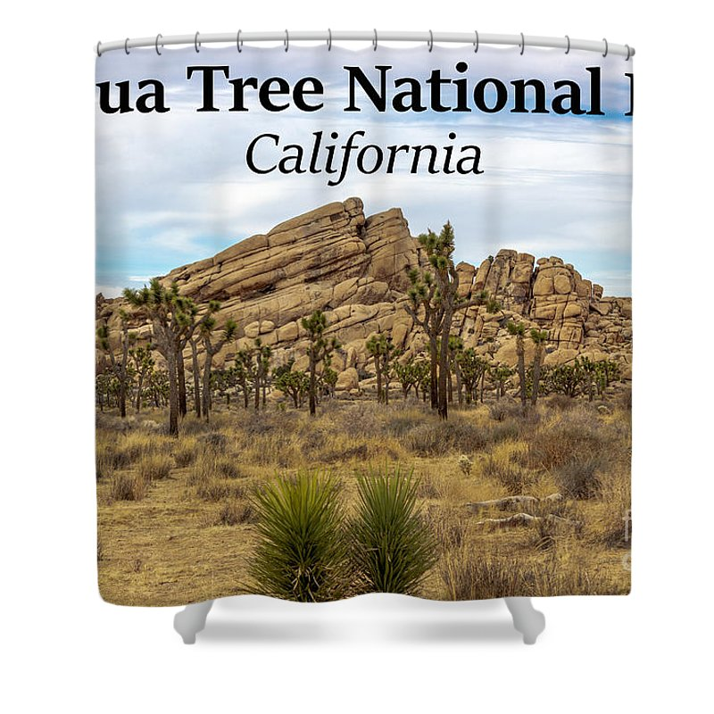 Joshua Tree National Park Shower Curtain featuring the photograph Joshua Tree National Park, California 03 by G Matthew Laughton