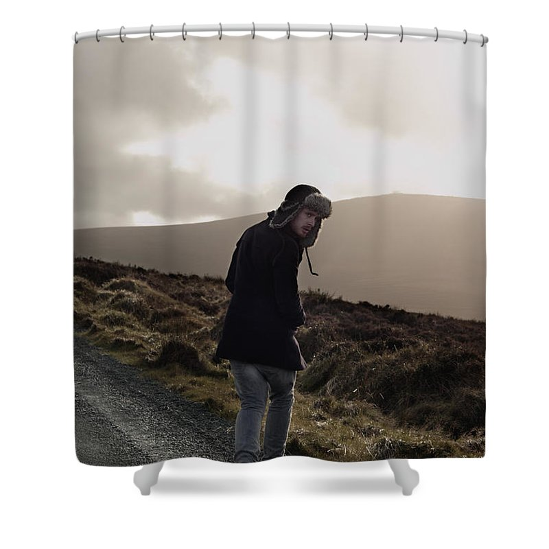 Dublin Shower Curtain featuring the photograph Journey by Ruth Maria Murphy