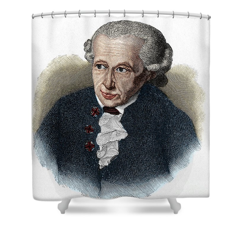 Kant Shower Curtain featuring the drawing Kant, 1724-1804 German Philosopher by European School