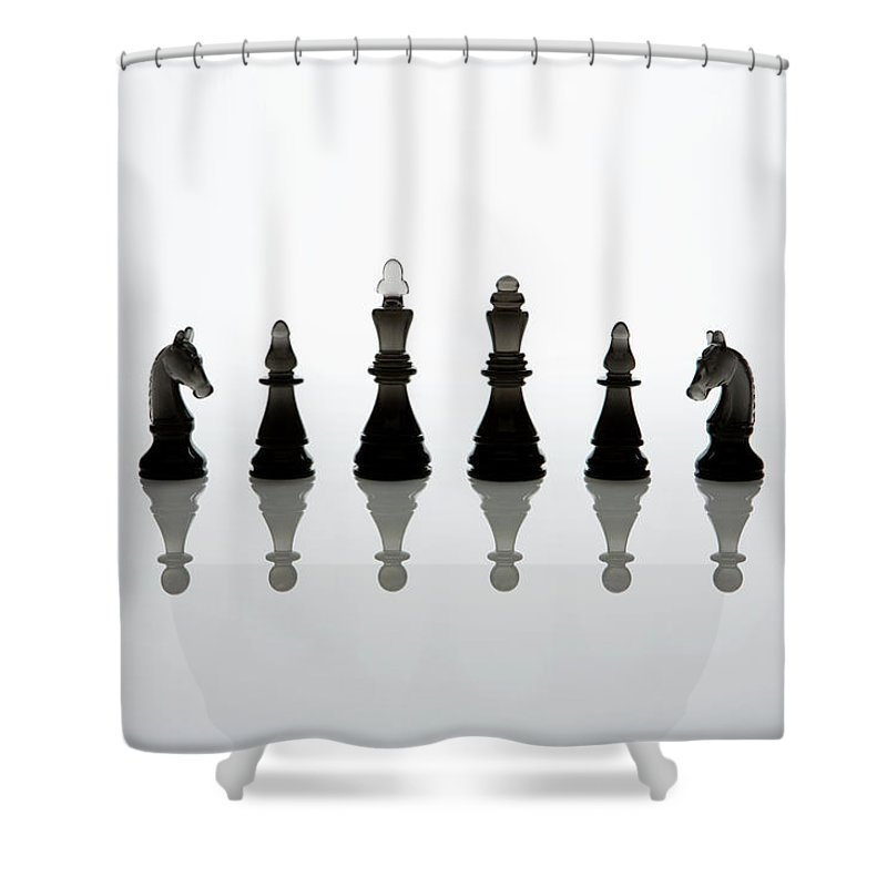 Risk Shower Curtain featuring the photograph King Or The Queen Of The Imitation by Michael H