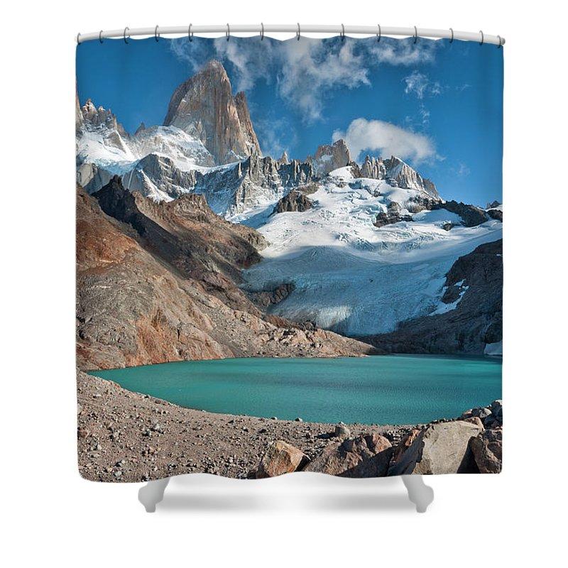 Scenics Shower Curtain featuring the photograph Laguna De Los Tres, El Chalten by Avinash Achar