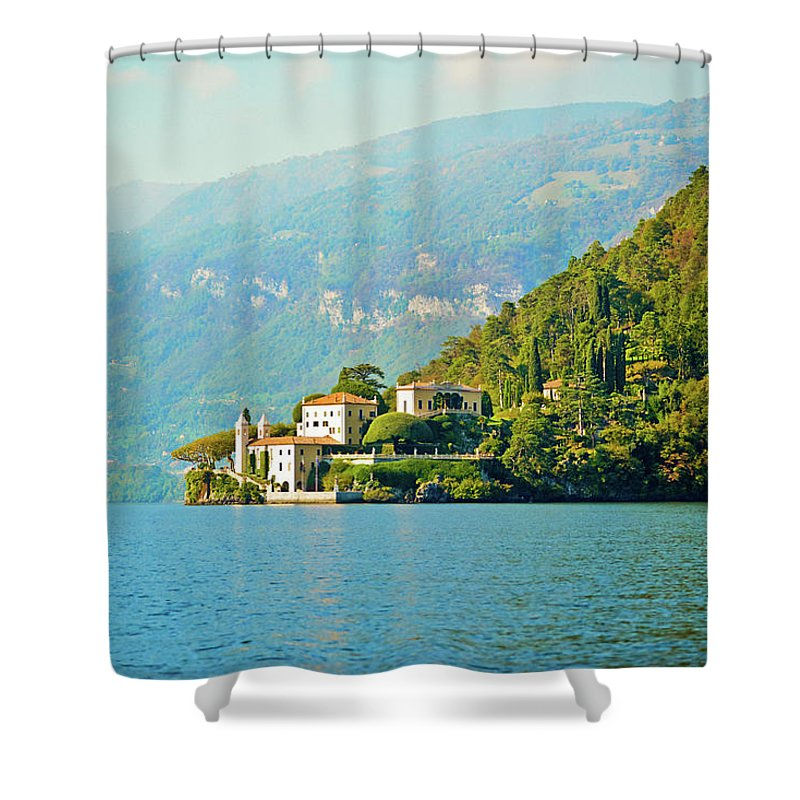 Scenics Shower Curtain featuring the photograph Lake Como Scenic by Anouchka