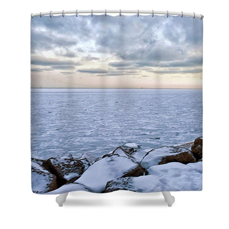 Tranquility Shower Curtain featuring the photograph Lake Michigan by By Ken Ilio