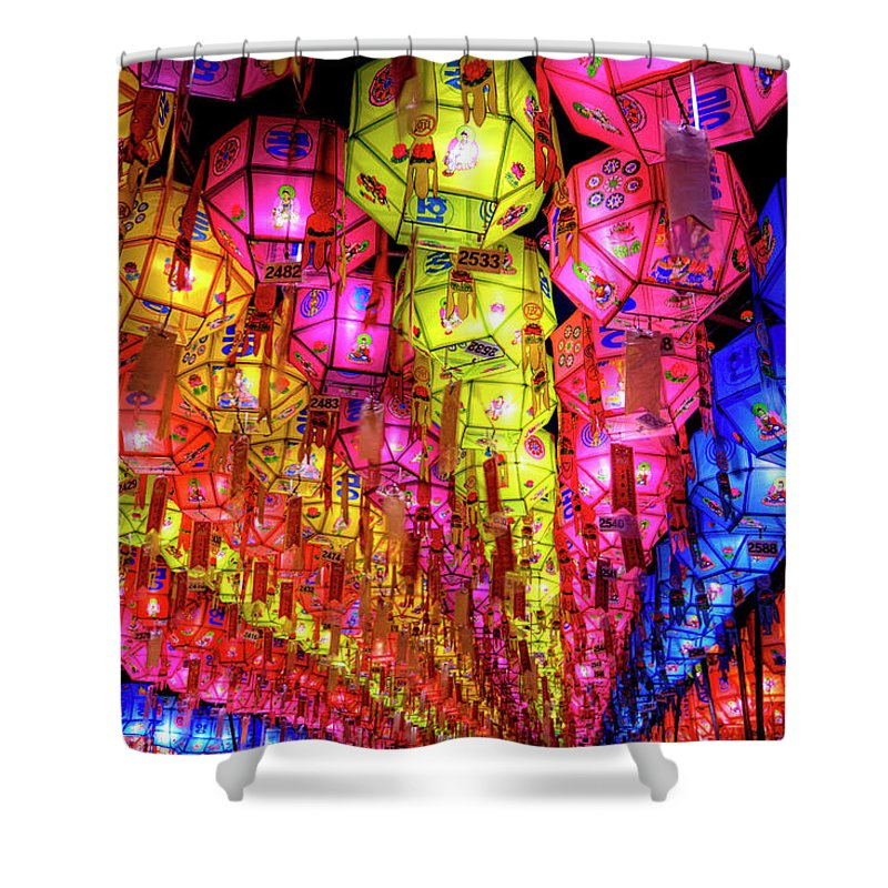 Tranquility Shower Curtain featuring the photograph Lanterns Hanging by Jason Teale Photography Www.jasonteale.com