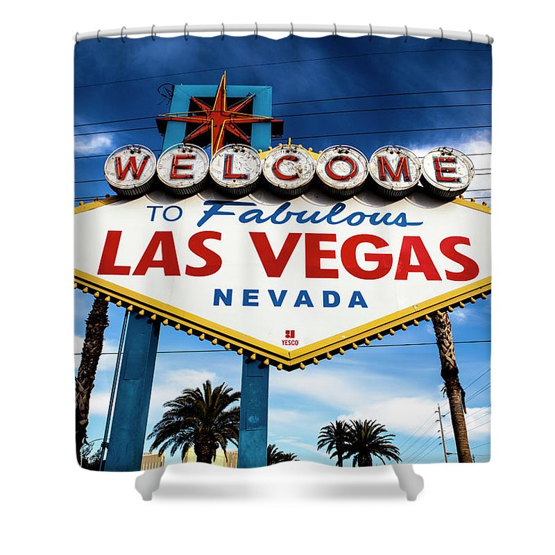 Outdoors Shower Curtain featuring the photograph Las Vegas by Aluma Images