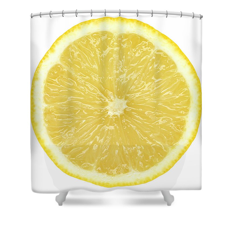 Limon Province Shower Curtain featuring the photograph Lemon by Suzifoo