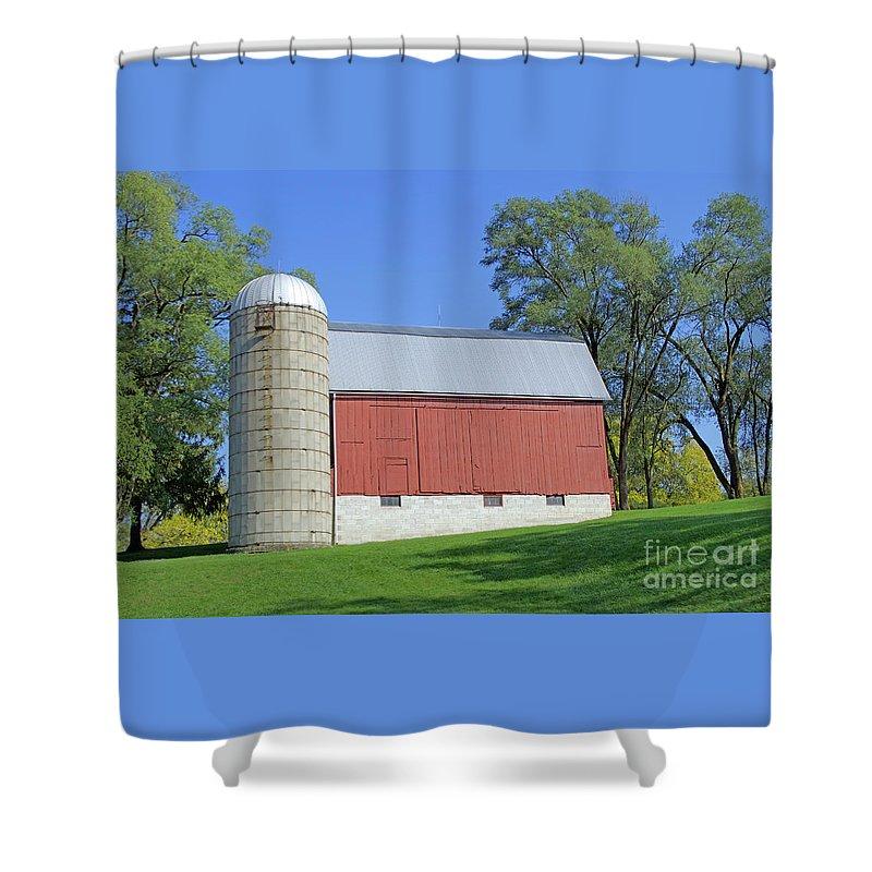 Barn Shower Curtain featuring the photograph Lengthening Shadows by Ann Horn