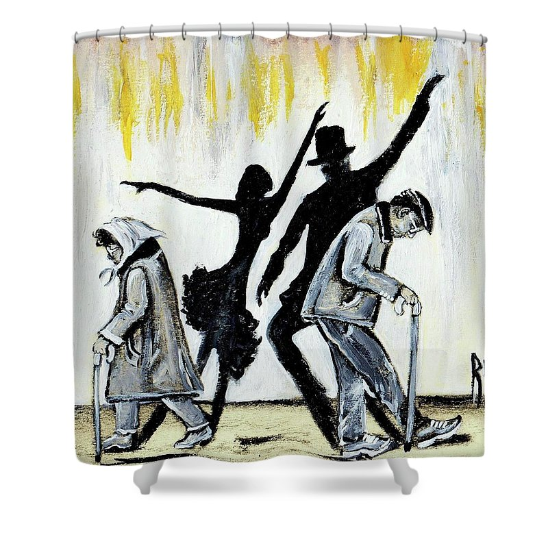 Love Shower Curtain featuring the painting Lets Get Back To THIS by Artist RiA