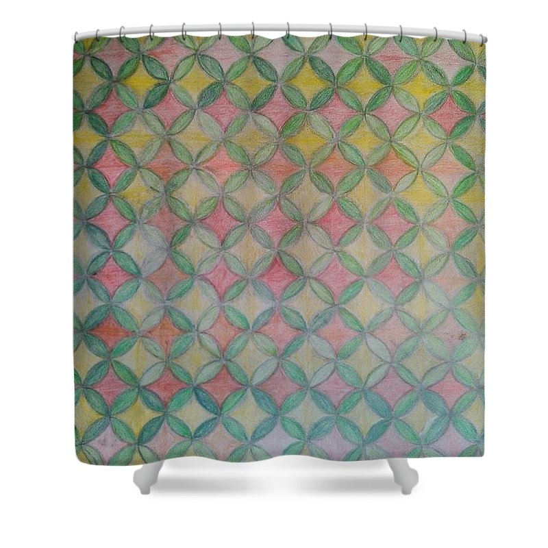 Shower Curtain featuring the drawing Life Flower by Andrew Johnson