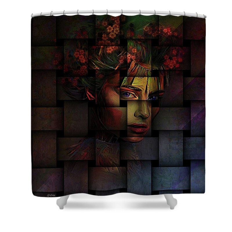 Weave Shower Curtain featuring the mixed media Life Is But A Weaving by G Berry