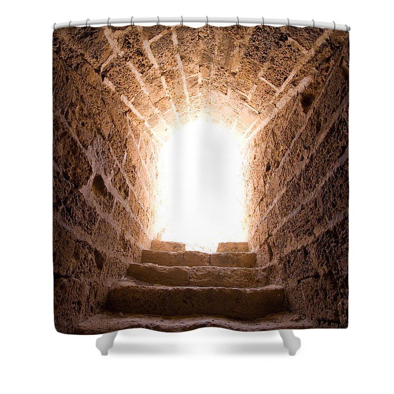 Steps Shower Curtain featuring the photograph Light At End Of The Tunnel by Kreicher